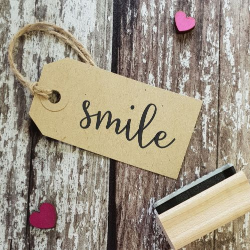 Smile Calligraphy Font Rubber Stamp