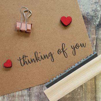 Thinking of You Calligraphy Rubber Stamp