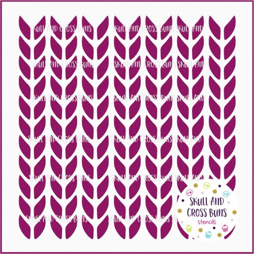 ***NEW FOR 2019*** Knit Stitch Large Stencil 50% OFF