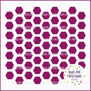 ***NEW FOR 2019*** Honeycomb Hexagon Large Stencil