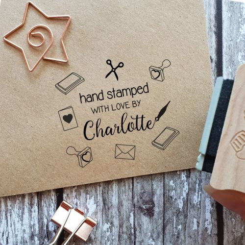 Personalised Hand Stamped By Rubber Stamp