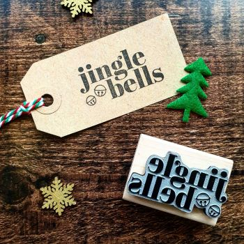 *****NEW FOR XMAS 2019***** - Christmas Jingle Bells Rubber Stamp