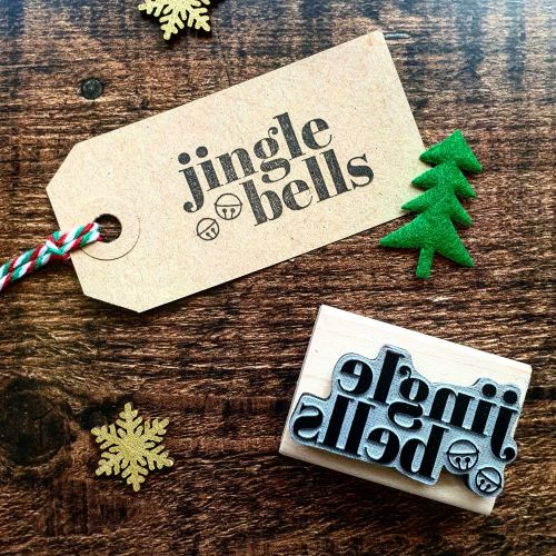 *****NEW FOR XMAS 2019 - Christmas Jingle Bells Rubber Stamp PRE-ORDER PRIC