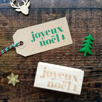 *****NEW FOR XMAS 2019***** - Christmas Joyeux Noel Rubber Stamp