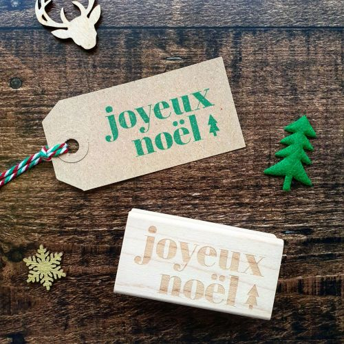 *****NEW FOR XMAS 2019 - Christmas Joyeux Noel Rubber Stamp PRE-ORDER PRICE