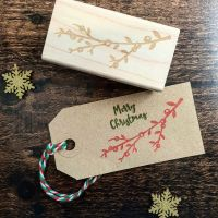 *****NEW FOR XMAS 2019***** - Christmas Sprig Rubber Stamp