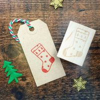 *****NEW FOR XMAS 2019***** - Christmas Star Stocking Rubber Stamp