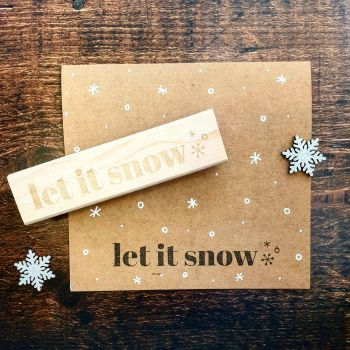 *****NEW FOR XMAS 2019***** - Let It Snow Rubber Stamp