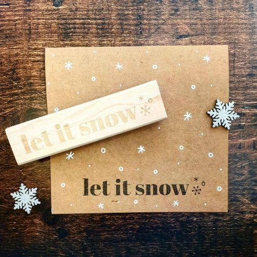 *****NEW FOR XMAS 2019 - Let It Snow Rubber Stamp PRE-ORDER PRICE 20% OFF!*