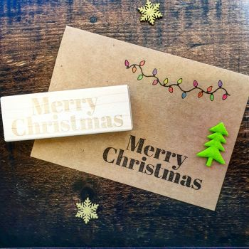 *****NEW FOR XMAS 2019***** - Merry Christmas Contemporary Rubber Stamp