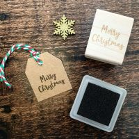 *****NEW FOR XMAS 2019***** - Mini Merry Christmas Script Font Rubber Stamp