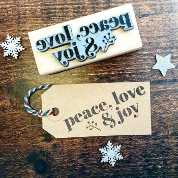 Peace Love Joy Contemporary Rubber Stamp