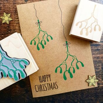 *****NEW FOR XMAS 2019***** - Small Mistletoe Rubber Stamp