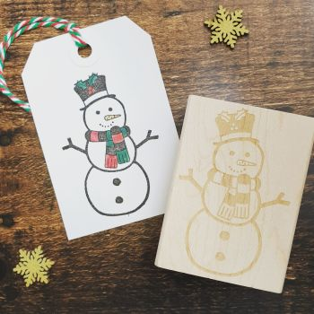*****NEW FOR XMAS 2019***** - Snowman Rubber Stamp