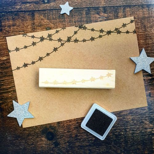 *****NEW FOR XMAS 2019 - Star String Lights Rubber Stamp PRE-ORDER PRICE 20