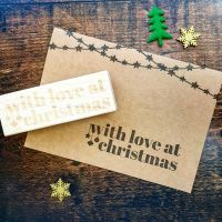 With Love At Christmas Rubber Stamp