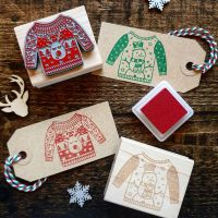 ******NEW FOR XMAS 2019***** - Christmas Snowman Jumper Rubber Stamp