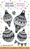 Christmas Baubles Rubber Stamp Set