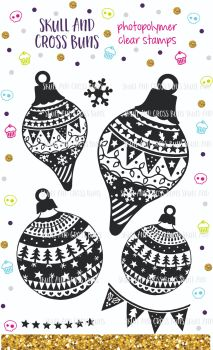 ******NEW FOR 2019**** Christmas Baubles Rubber Stamp Set