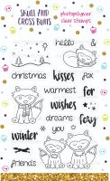 Christmas Foxes Rubber Stamp Set