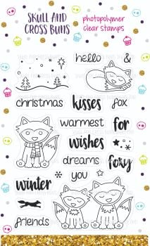 ******NEW FOR 2019**** Christmas Foxes Rubber Stamp Set