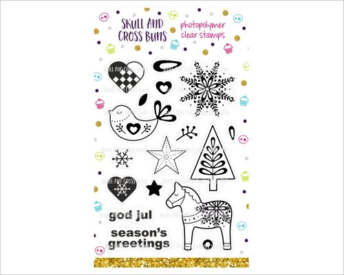 ******NEW FOR 2019**** Scandi Christmas Rubber Stamp Set