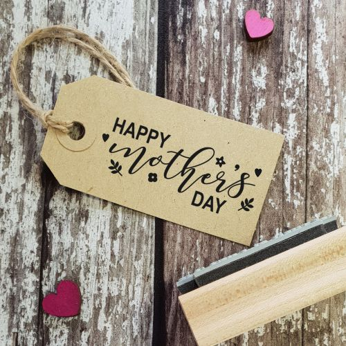 Happy Mother's Day Floral Rubber Stamp