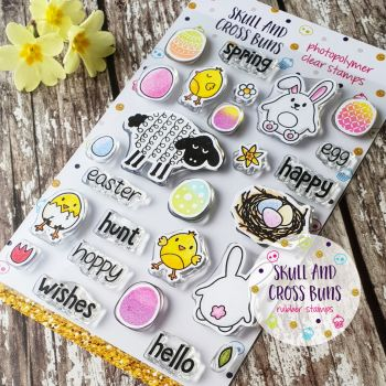 Spring Friends Rubber Clear Stamp Set