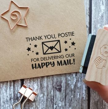 ******NEW FOR 2020*****Thank You Postie Envelope Rubber Stamp