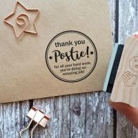 ******NEW FOR 2020****** Thank You Postie Round Rubber Stamp