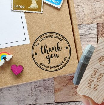 ******NEW FOR 2020****** Thank You Shop Small Rubber Stamp