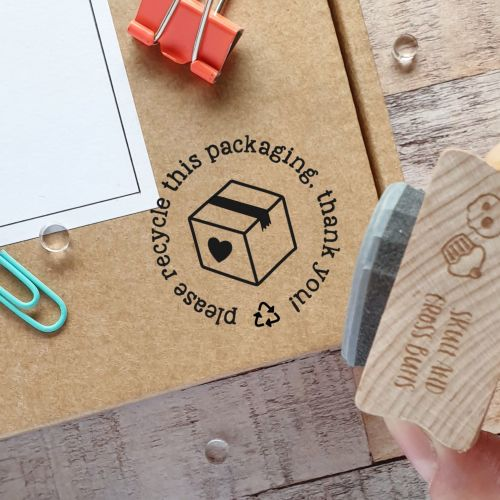 ******NEW FOR 2020****** Please Recycle Packaging Rubber Stamp