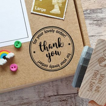 ***NEW FOR 2020*** Thank You For Your Order Rubber Stamp