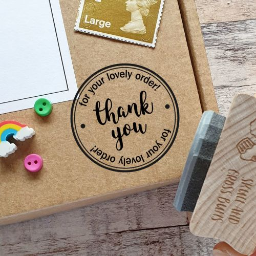 *****NEW FOR 2020*****Thank You For Your Order Rubber Stamp