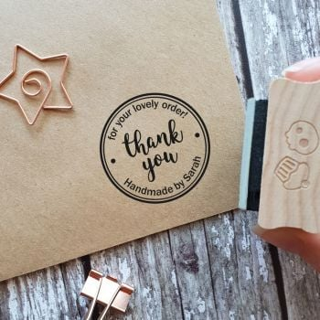 ***NEW FOR 2020*** Personalised Thank You for Your Order Rubber Stamp