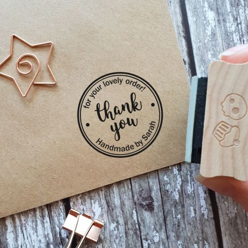 Personalised Thank You for Your Order Rubber Stamp