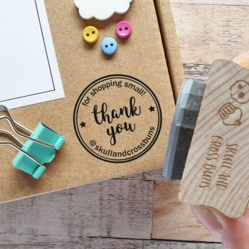 *****NEW FOR 2020***** Personalised Thank You Shopping Small Rubber Stamp