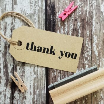 ***NEW FOR 2020*** Thank You Contemporary Rubber Stamp