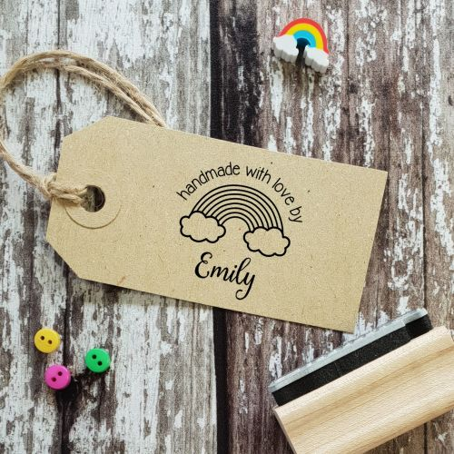Personalised Rainbow Handmade By  Rubber Stamp ***LAUNCHING 22nd OCT, INDIE