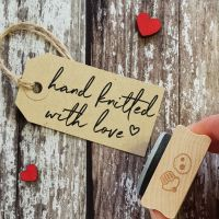Hand Knitted With Love Rubber Stamp