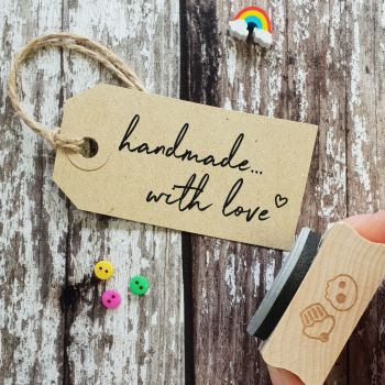 Hand Made With Love Rubber Stamp