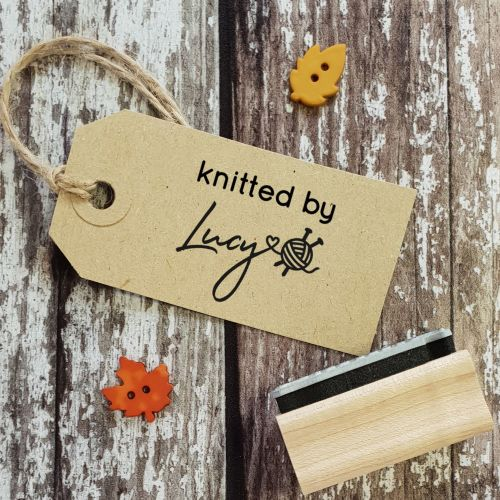 Personalised Knitted By Rubber Stamp