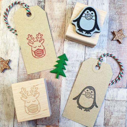 ******NEW FOR 2020**** Christmas 2020 Penguin Rubber Stamp