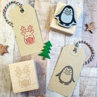 Christmas 2020 Reindeer Rubber Stamp