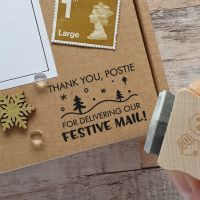 ***NEW FOR 2020*** Christmas Thank You Postie Festive Rubber Stamp
