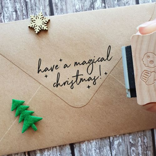 ***NEW FOR 2020*** - Magical Christmas Rubber Stamp