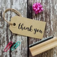 Thank You Bold Script Rubber Stamp