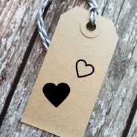 ****NEW FOR 2021**** Mini Hearts Set of 2 Rubber Stamps