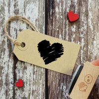 ****NEW FOR 2021**** Sketch Heart Rubber Stamp