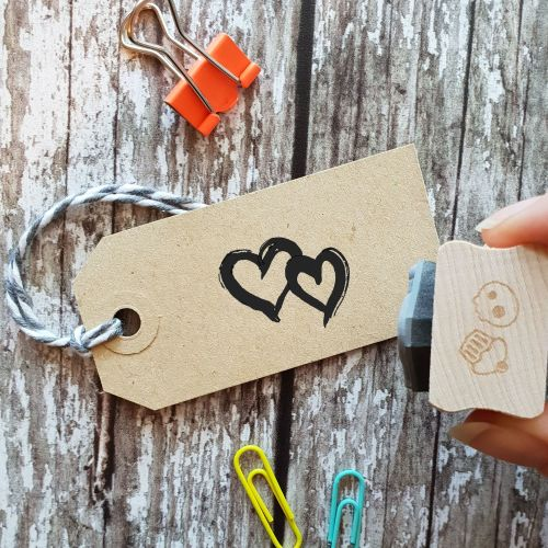 ****NEW FOR 2021**** Double Hearts Rubber Stamp
